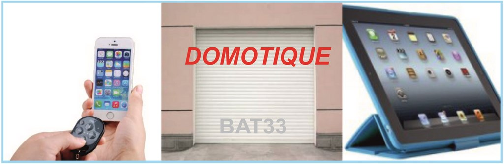 Domotique volet roulant bordeaux syst me automatique for Application iphone pour ouvrir porte garage